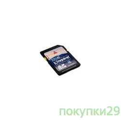 Карта памяти  SecureDigital 32Gb Kingston, SD4/32GB SDHC Class 4