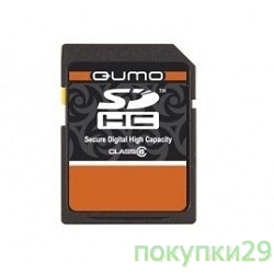 Карта памяти  SecureDigital 8Gb  QUMO (QM8GSDHC10), Class10